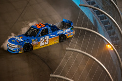 Spencer Gallagher, GMS Racing Chevrolet crash