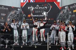 Podium: race winners #88 AKKA ASP Mercedes AMG GT3: Tristan Vautier, Felix Rosenqvist, second place #8 Bentley Team M-Sport Bentley Continental GT3: Andy Soucek, Maxime Soulet, third place #33 Belgian Audi Club Team WRT Audi R8 LMS: Enzo Ide, Robin Frijns