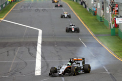 Nico Hulkenberg, Sahara Force India F1 VJM09 locks up under braking