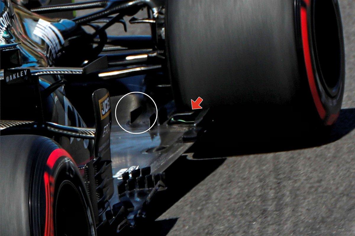 El fondo plano del Aston Martin Racing AMR21.