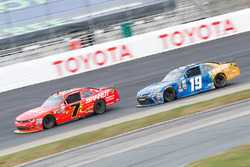 Justin Allgaier, JR Motorsports Chevrolet, Daniel Suarez, Joe Gibbs Racing Toyota