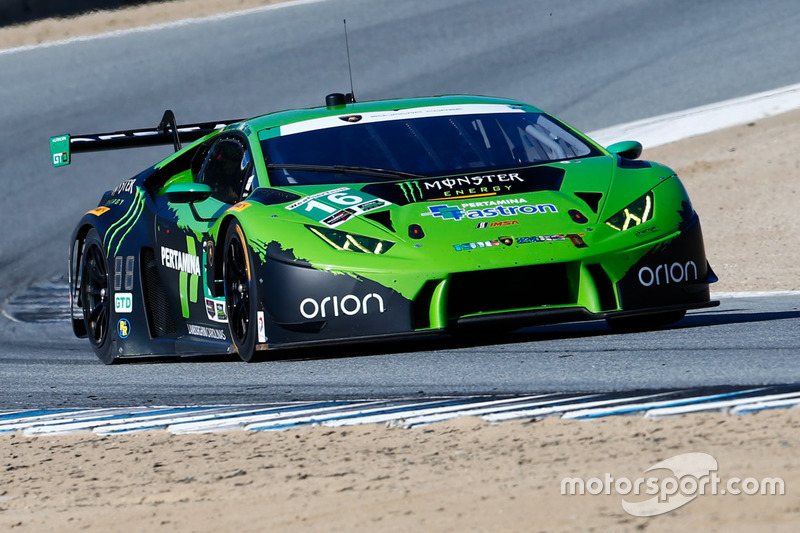 16 change racing lamborghini huracan gt3 spencer pumpelly corey lewis at laguna seca. Black Bedroom Furniture Sets. Home Design Ideas