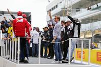 Formula 1 Photos - Nico Rosberg, Mercedes AMG F1 Team on the drivers parade