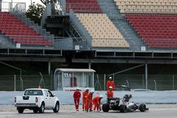 Sergio Perez, Sahara Force India F1 VJM09 stops on the circuit