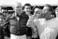 Formula 1 Photos - Race winner Peter Collins, Ferrari Dino 246, secon place Mike Hawthorn, Ferrari Dino 246