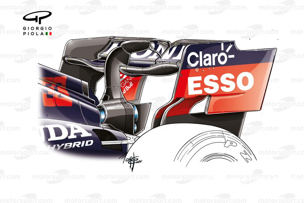Red Bull RB16B rear wing, Azerbaijan Grand Prix