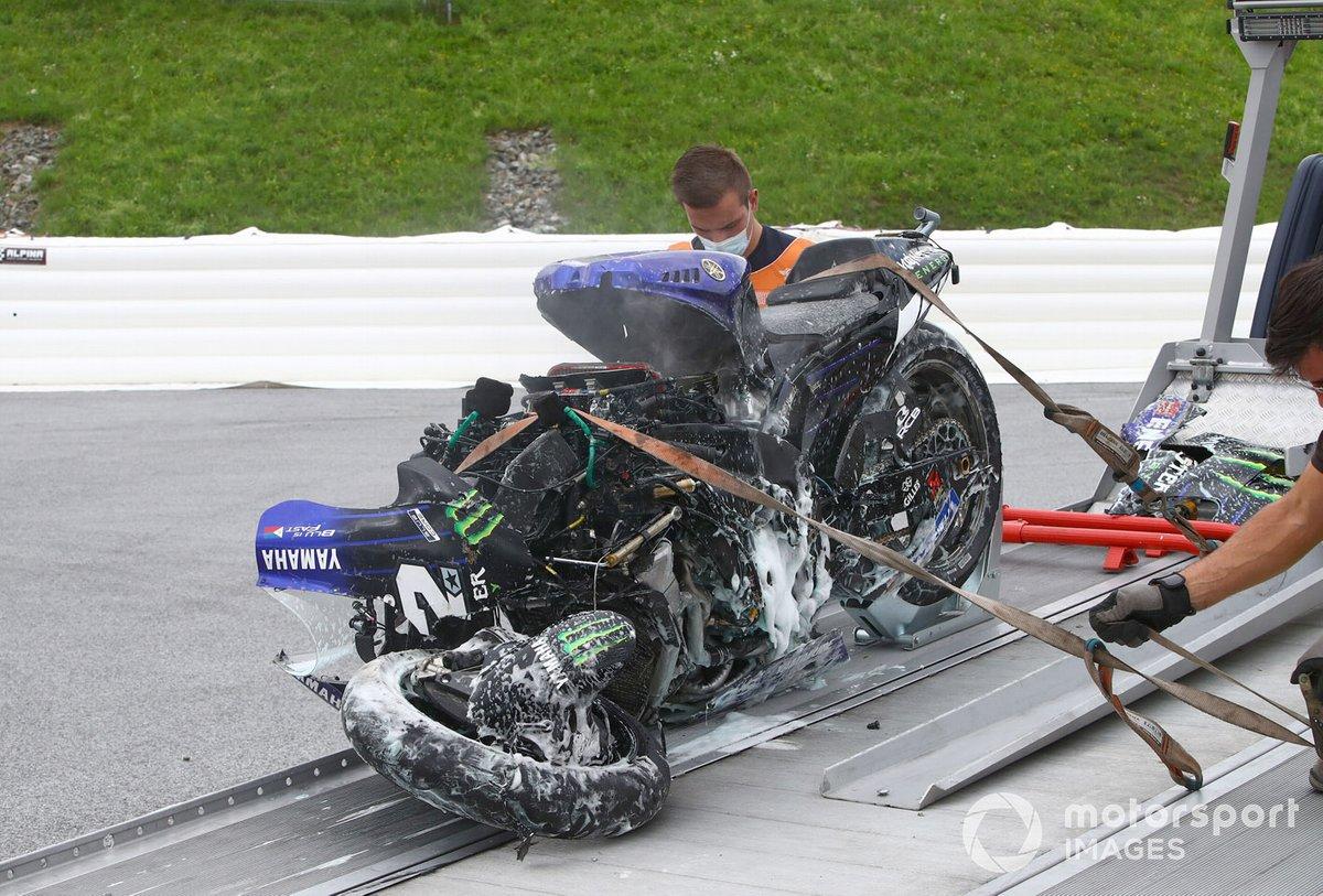 MotoGP : Enorme crash pour Vinales, nouveau drapeau rouge en Autriche