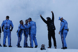 Stewart-Haas Racing team members celebrate victory