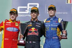 Podium: winner Pierre Gasly, PREMA Racing, second place Jordan King, Racing Engineering, third place Alex Lynn, DAMS