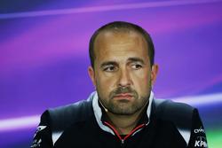 Matt Morris, McLaren Engineering Director in the FIA Press Conference