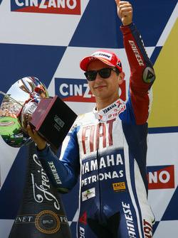 Podium: second place Jorge Lorenzo, Yamaha Factory Racing