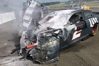 NASCAR Sprint Cup Photos - La voiture détruite de Brad Keselowski, Team Penske Ford