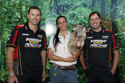 Supercars drivers Steve Owen, Chaz Mostert take time out to take in some of the attractions at Dreamworld
