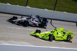 Gabby Chaves, Dale Coyne Racing Honda, Simon Pagenaud, Team Penske Chevrolet