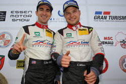 Podium: Connor de Phillippi, Christopher Mies, Land Motorsport, Audi R8 LMS