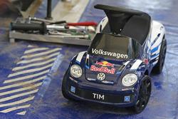 Bobby car for the son Tim of Sébastien Ogier, Volkswagen Polo WRC, Volkswagen Motorsport