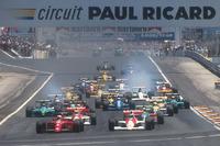 Formula 1 Fotoğraflar - Nigel Mansell, Ferrari 641 Gerhard Berger, McLaren MP4/5B Honda, Ayrton Senna, McLaren MP4/5B Honda, Alessandro Nannini, Benetton B190 Ford, Alain Prost, Ferrari 641, Riccardo Patrese, Williams FW13B Renault ve Ivan Capelli, Leyton House CG901 Judd