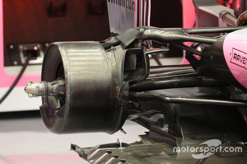 Racing Point RP20, rear brake detail