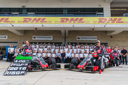Haas F1 team celebrated Romain Grosjean's 100 GP
