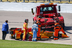 Ryan Hunter-Reay, Andretti Autosport Honda crashed car