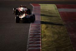 Sebastian Vettel, Ferrari SF16-H leads Daniel Ricciardo, Red Bull Racing RB12