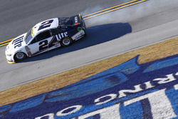 Brad Keselowski, Team Penske Ford with a blown engine