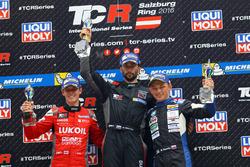 Podium: winner Mikhail Grachev, West Coast Racing, Honda Civic TCR, second place James Nash, Team Craft-Bamboo, SEAT León TCR, third place Mato Homola, B3 Racing Team Hungary, SEAT León TCR