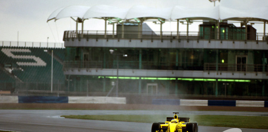 Wednesday is wet and windy for Jordan at Silverstone