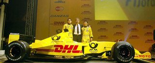 Formula 1 Jordan presents EJ12 at Brussels airport