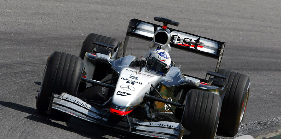 Coulthard takes charge in Brazil second practice