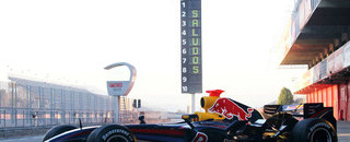 Red Bull RB3 breaks cover at Barcelona