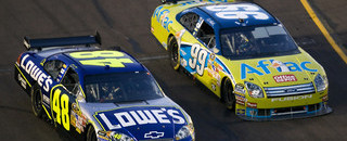 NASCAR Sprint Cup Johnson saves fuel for Phoenix victory