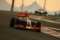 Hamilton storms to pole in Abu Dhabi
