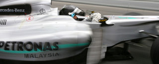 Formula 1 Rosberg heads best time in Barcelona dry/wet day