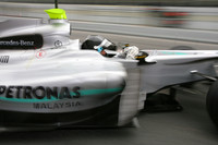 Rosberg heads best time in Barcelona dry/wet day