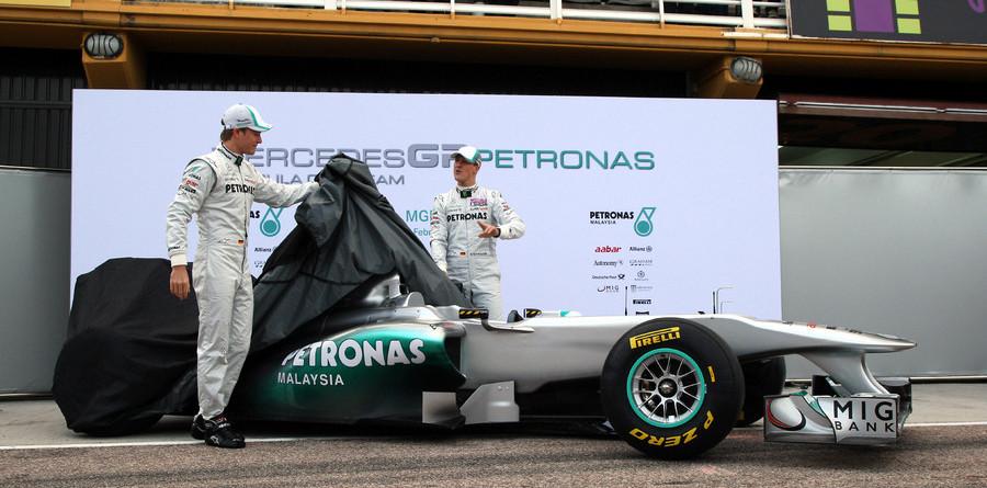 Mercedes GP presents Silver Arrow MPG W02 in Valencia