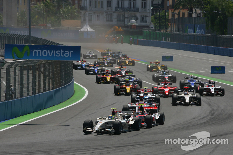 GP 2 Series Teams Ready For The Streets Of Valencia, Spain