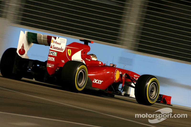 Ferrari test 2012 front wing in Singapore