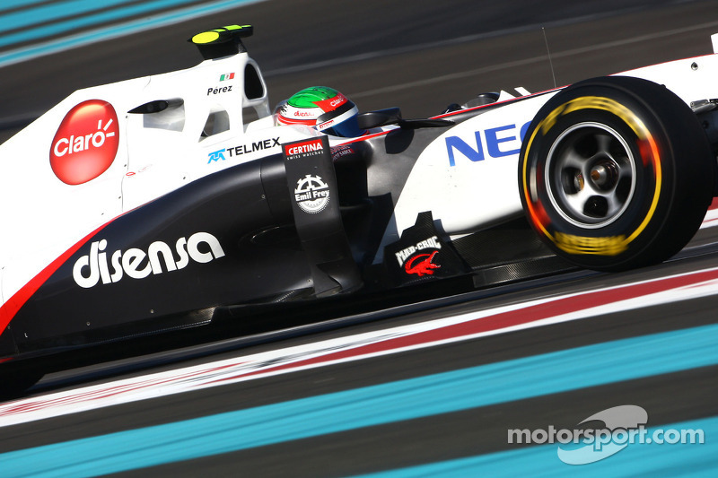 Photos show Sauber with UBS sponsor logos