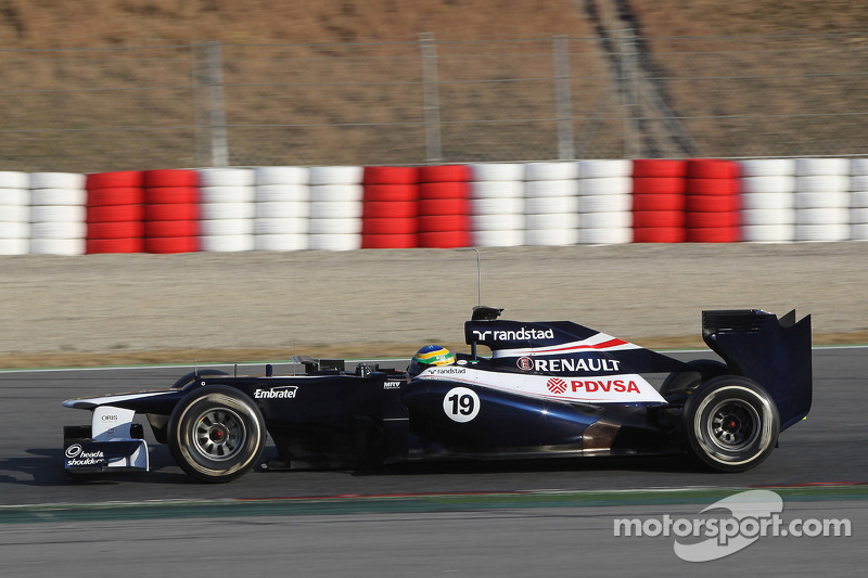 Williams Barcelona testing -  Day 1 report