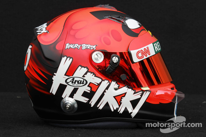 Kovalainen turns heads with Angry Birds helmet