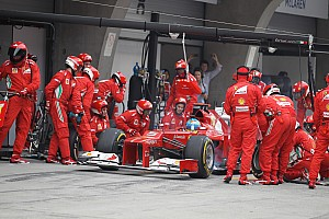 Ferrari setting 2012 pace in the pits