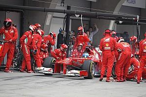 Ferrari setting 2012 pace in the pits