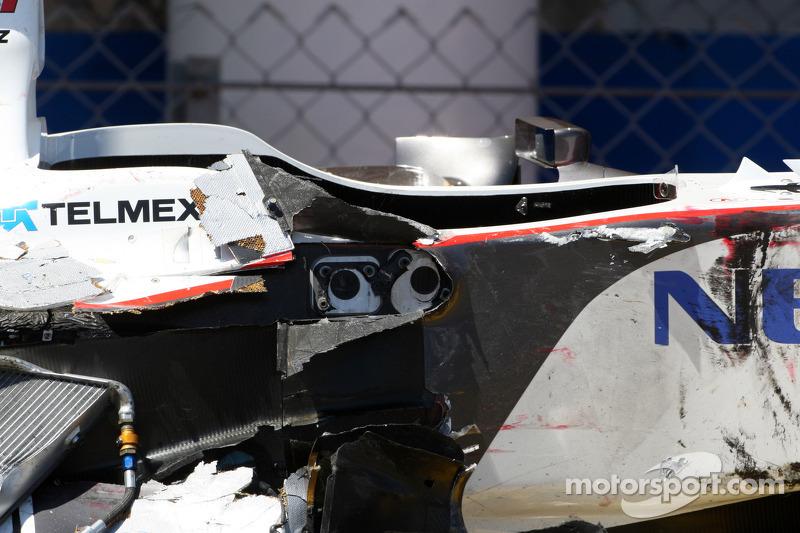 Formula Crash 2011 After Perez's 2011 Crash
