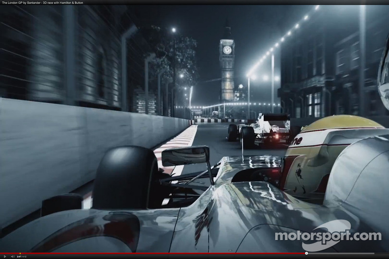 A Formula 1 street race in London - CGI Video