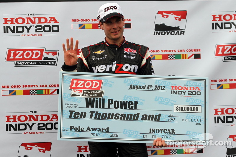 Will Power scores third pole of 2012 with Mid-Ohio scorcher