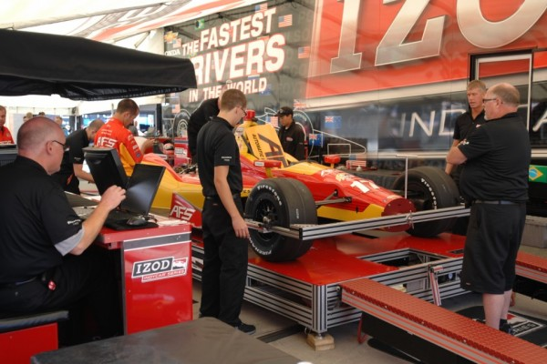 Will Phillips gives reporter an insight of IndyCar tech inspection 