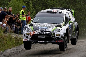 Ken Block takes on the awesome WRC Finland for the first time - video highlights