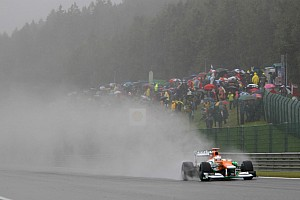 Formula 1 Practice report Limited running for Force India on Belgium GP first practice day
