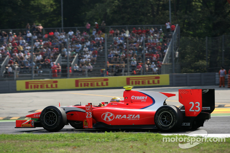 Arden's Razia does not score points at Monza